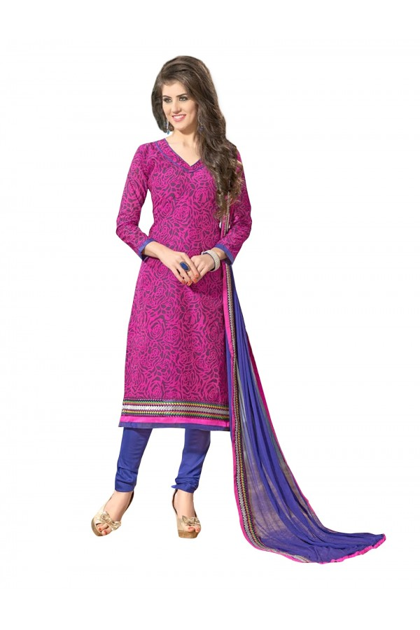 Casual Wear Embroidered Chanderi Straight Cut Pink Salwar Suit - EBSFSKAH376007 ( EBSFSK37 )