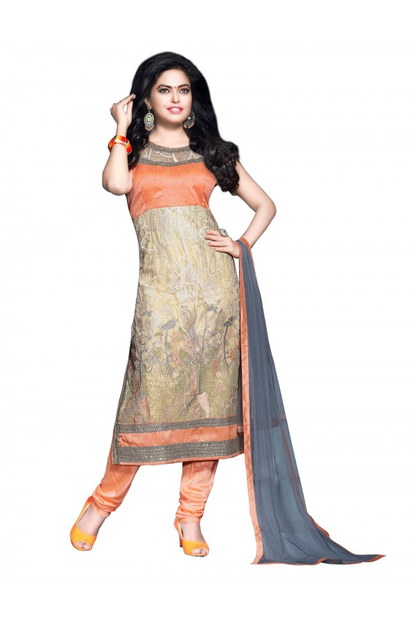 Party Wear Embroidered Net Straight Cut Multicolor Salwar Suit - EBSFSKJF376012 ( EBSFSK37 )