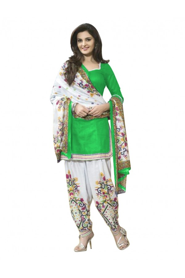 Cotton Green Patiala Suit Dress Material - EBSFSK429007C