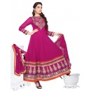 Ethnic Wear Georgette Pink Anarkali Suit - EBSFSKDF43405