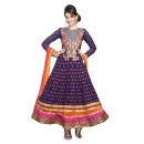 Wedding Wear Georgette Blue Anarkali Suit - EBSFSKDF43505