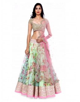 Ethnic Wear Bhagalpuri Multicolor Lehenga Choli - 60006