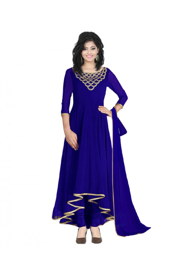 Eid Special  Royal Blue Georgette  Salwar suit  - 70502