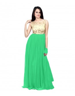 Eid Special Party Wear Light Green Gown - 70508