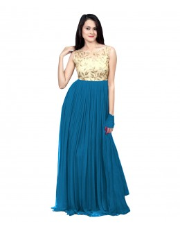 Eid Special Party Wear Blue Gown - 70514