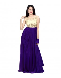 Eid Special Party Wear Purple Gown - 70516