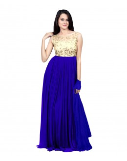 Eid Special Party Wear Royal Blue Gown - 70518