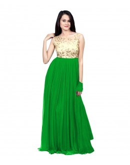 Eid Special Party Wear Green Gown - 70519