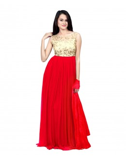 Eid Special Party Wear Pink Gown - 70520