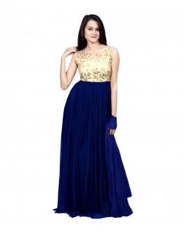 Eid Special Party Wear Navy Blue  Gown - 70521