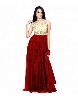 Eid Special Party Wear Red  Gown - 70522