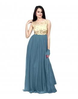 Eid Special Party Wear Grey Gown - 70524