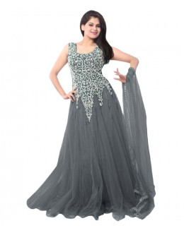 Eid Special Party Wear Grey Gown - EBSFSK234014L