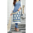 Party Wear Gray  Designer Salwar Suit  - Diya Blue