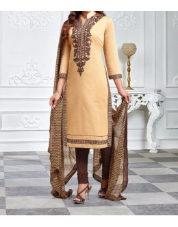 Party Wear Cream  Designer Salwar Suit  - Diya Cream