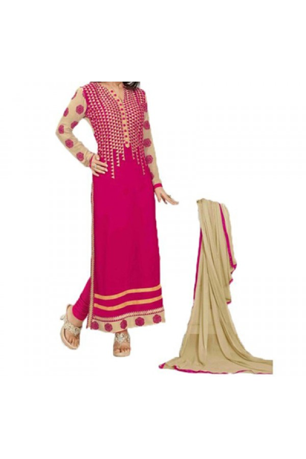 Party Wear Pink  Designer Salwar Suit  - Heena Rani