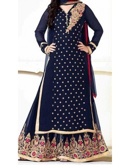 Party Wear Blue  Designer Palazzzo Suit  - Heenari Blue