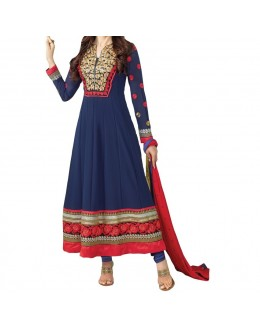 Party Wear Blue Designer Anarkali Suit  - Krishma  3009