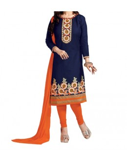 Party Wear Blue Designer Salwar Suit  - Pichkari Blue