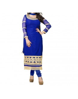 Party Wear Dark Blue Designer  Salwari Suit  -  Tarzan Blue