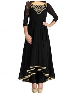 Party Wear Black Georgette Salwar Suit - EF019