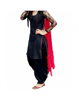 Party Wear Black Georgette Salwar Suit - EF047