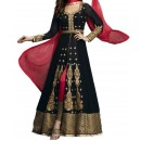 Party Wear Black Georgette  Salwar Suit - EF054