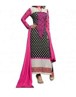 Party Wear Black Georgette Salwar Suit - EF062