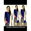 Party Wear Blue Georgette Salwar Suit - EF002