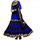 Party Wear Blue Georgette Salwar Suit - EF009