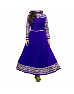 Party Wear Blue Georgette Salwar Suit - EF070