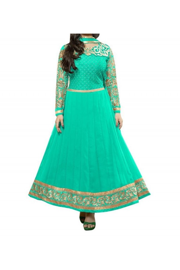 Party Wear Firoji Georgette Salwar Suit - EF072