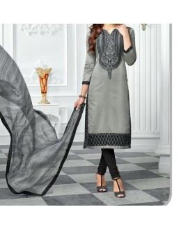 Party Wear Grey georgette  Salwar Suit - EF042