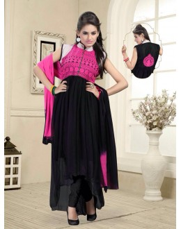 Eid Wear Black Net Designer Anarkali Suit - Elegant 08