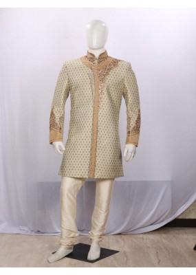 Light Pista Heavy Embroidered Indowestern - IT6093 - ECIW3