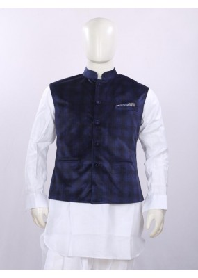 Ethnic Wear Blue Jacket Kurta Set - ECJKS08