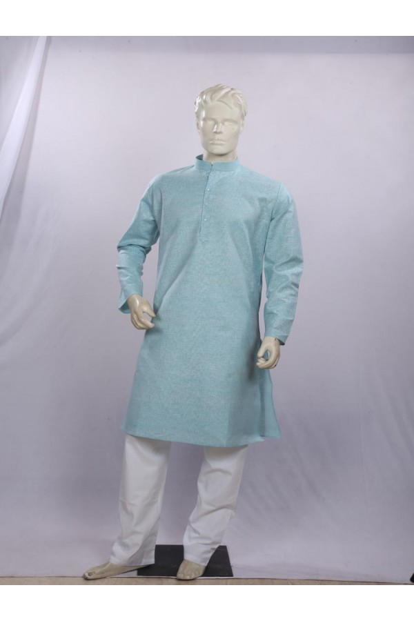Regular Fit Cotton Sky Blue Kurta Pyjama - KE9885 - ECK02