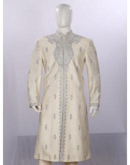 Wedding Wear Beige Sherwani - SI3772 - ECS06