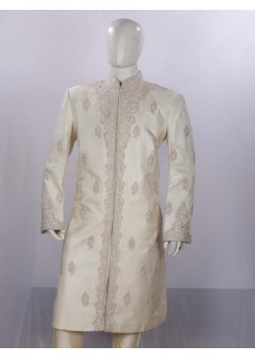 Wedding Wear Beige Sherwani - SI3881 - ECS06