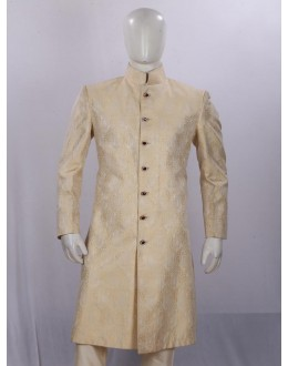 Wedding Wear Dark Cream Sherwani - SA7970 - ECS06