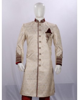 Wedding Wear Fawn Sherwani - ST7079 - ECS06