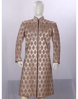 Wedding Wear Golden Sherwani - 3500 - ECS06