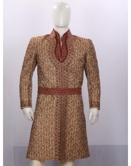 Wedding Wear Golden Sherwani - SA7599 - ECS06