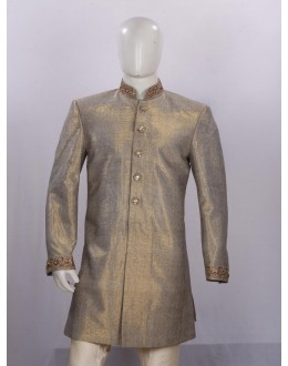 Wedding Wear Grey Sherwani - H3611 - ECS06