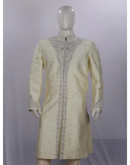 Wedding Wear Light Cream Sherwani - SI3864 - ECS06