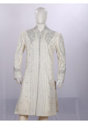 Wedding Wear Light Cream Sherwani - SS4352 - ECS06