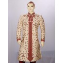 Wedding Wear Light Fawn Sherwani - SE7002 - ECS06