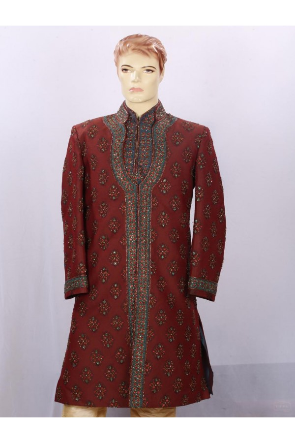 Wedding Wear Red Sherwani - SE7005 - ECS06