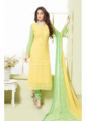 Party Wear Yellow & Paroot Salwar Suit - FA373-2147