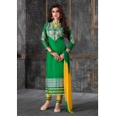 Party Wear Green & Yellow Salwar Suit - FA378-1604